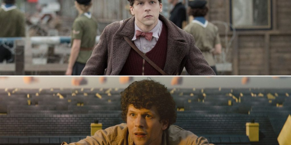For Jesse Eisenberg, WWII biopic 'Resistance' and sci-fi nightmare 'Vivarium' both hit close to home